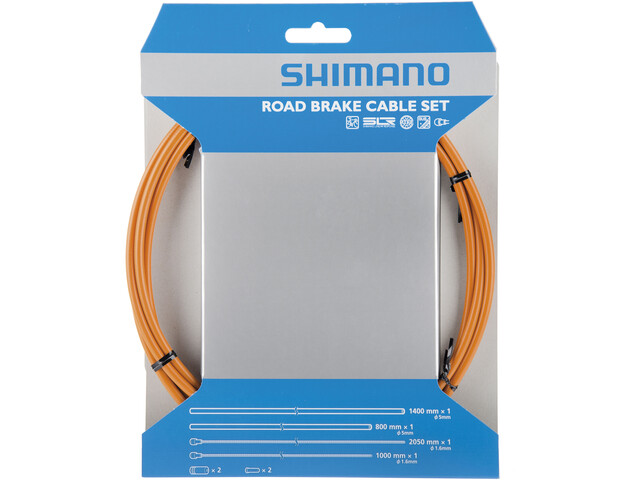 Shimano Road Remkabel Set PFTE gecoat, orange